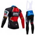 Ensemble cuissard vélo et maillot cyclisme hiver pro BMC 2018