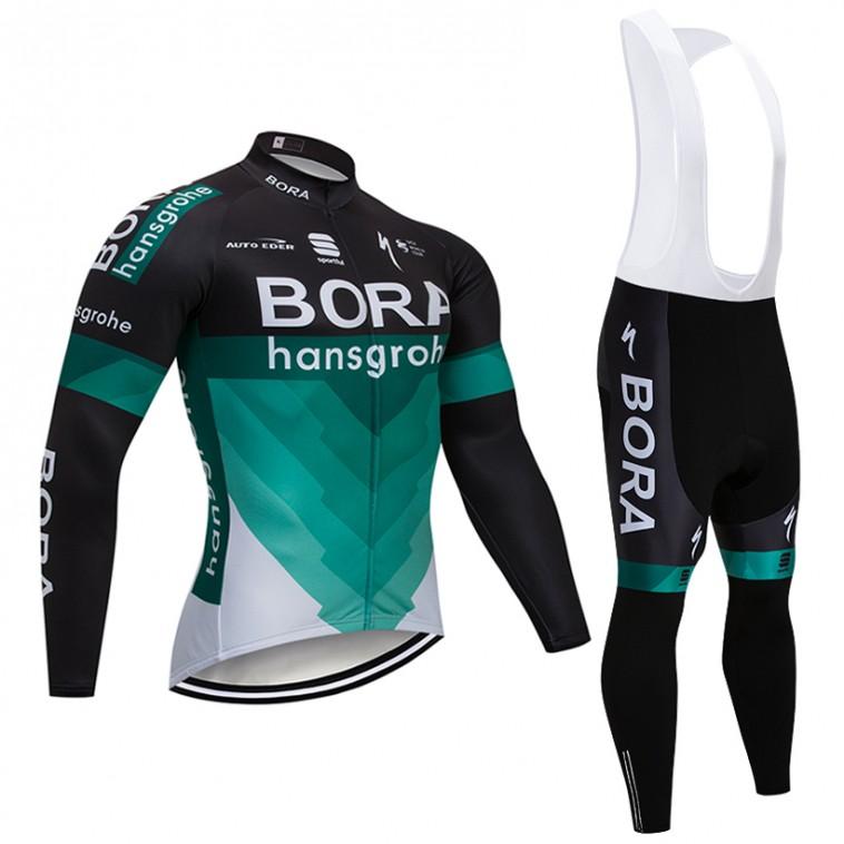 Ensemble cuissard vélo et maillot cyclisme hiver pro BORA Hansgrohe 2018