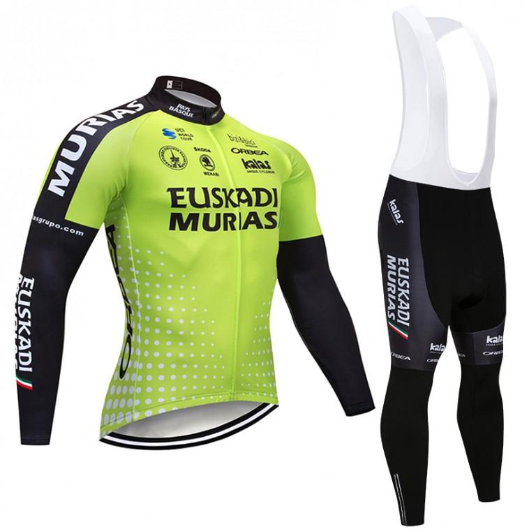Ensemble cuissard vélo et maillot cyclisme hiver pro EUSKADI Murias 2018