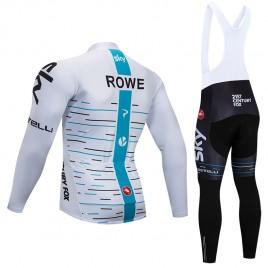 Ensemble cuissard vélo et maillot cyclisme hiver pro SKY Rowe 2018