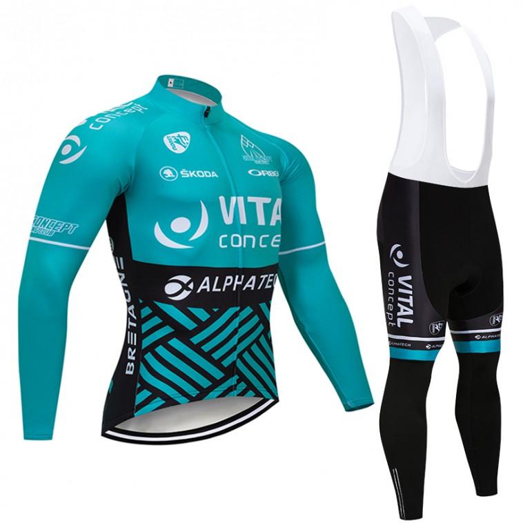 Ensemble cuissard vélo et maillot cyclisme hiver pro VITAL Concept 2018
