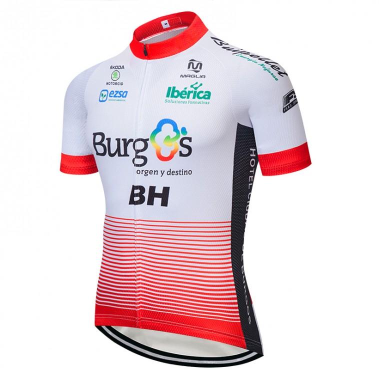 Maillot vélo équipe pro BURGOS BH 2018 manches courtes