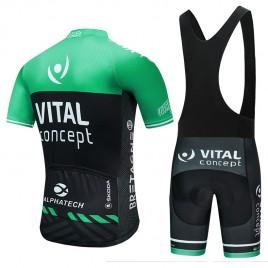Ensemble cuissard vélo et maillot cyclisme pro VITAL Concept 2018 Green Edition