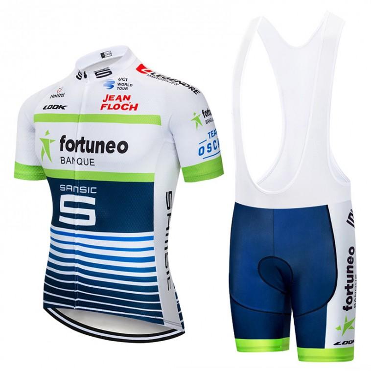 Ensemble cuissard vélo et maillot cyclisme pro FORTUNEO 2018
