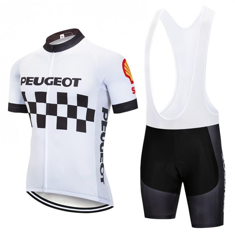Ensemble cuissard vélo et maillot cyclisme pro vintage PEUGEOT