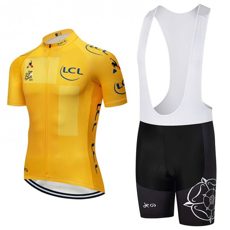 Ensemble cuissard vélo et maillot jaune Tour de France 2018 LCL