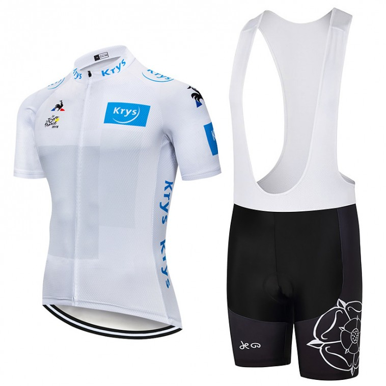 Ensemble cuissard vélo et maillot Blanc Tour de France 2018 Krys