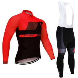 Ensemble cuissard vélo et maillot cyclisme hiver pro SCOTT RC Team Red Edition 2018