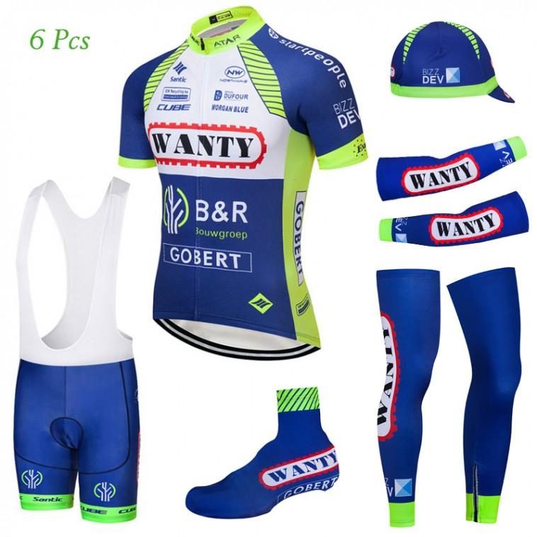 Tenue complète cyclisme équipe pro Wanty Gobert 2018