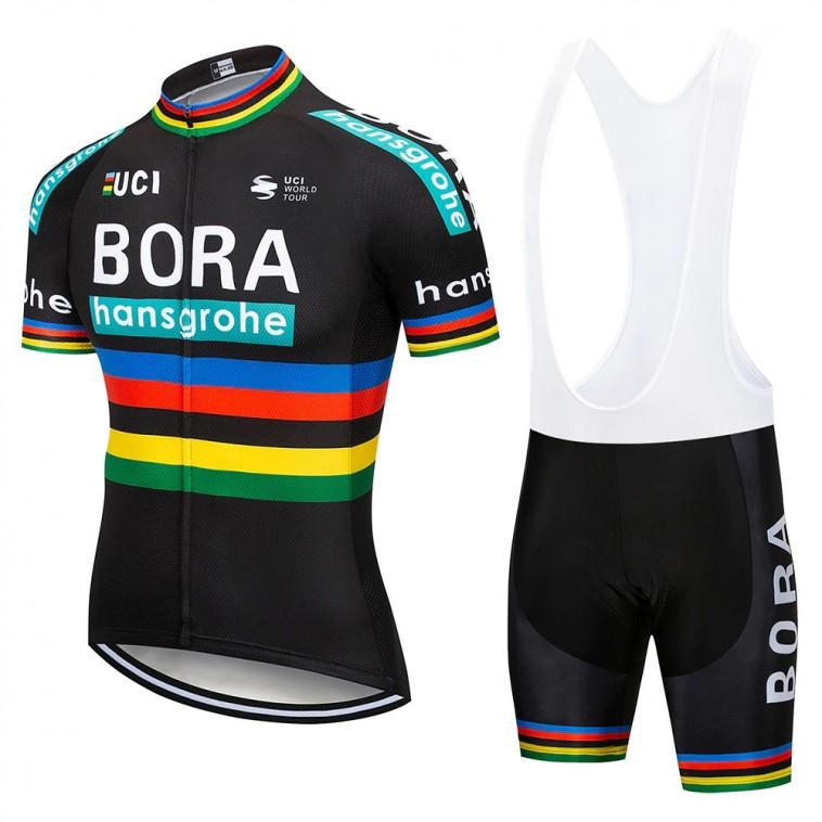 Ensemble cuissard vélo et maillot cyclisme pro BORA UCI 2018 black edition