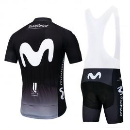 Ensemble cuissard vélo et maillot cyclisme pro Movistar Black edition 2018