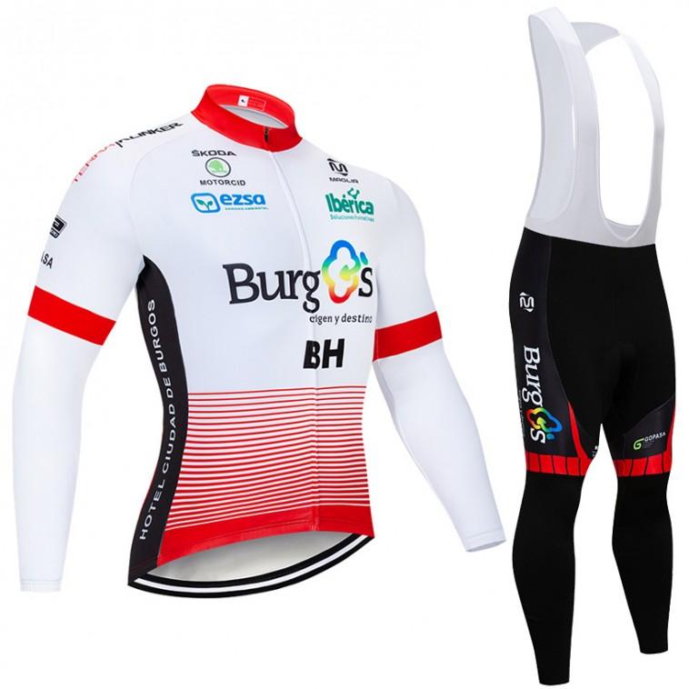 Ensemble cuissard vélo et maillot cyclisme hiver pro BURGOS BH 2018
