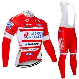 Ensemble cuissard vélo et maillot cyclisme hiver pro Androni 2018