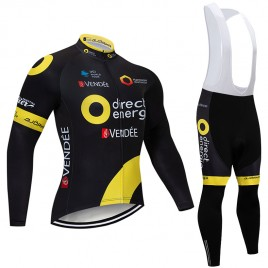 Ensemble cuissard vélo et maillot cyclisme hiver pro Direct Energie 2018