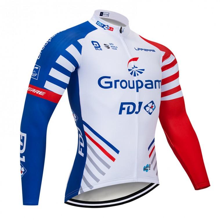 Maillot vélo hiver pro FDJ GROUPAMA 2018