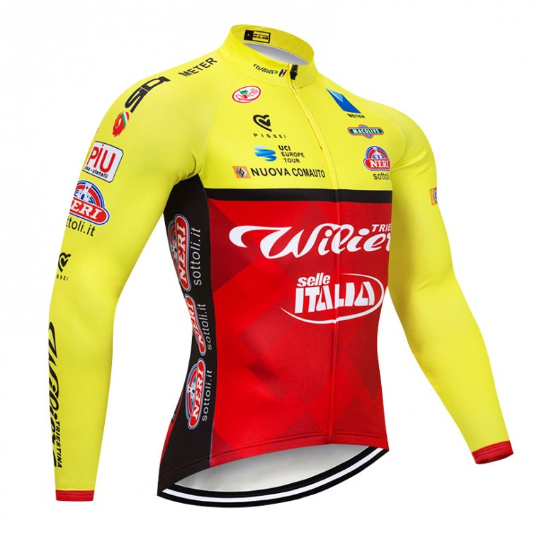 Maillot vélo hiver pro WILIER Selle Italia 2018