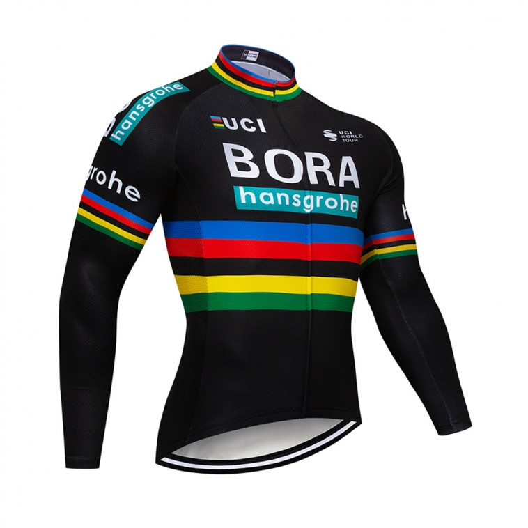 Maillot vélo hiver pro BORA UCI BLACK 2018