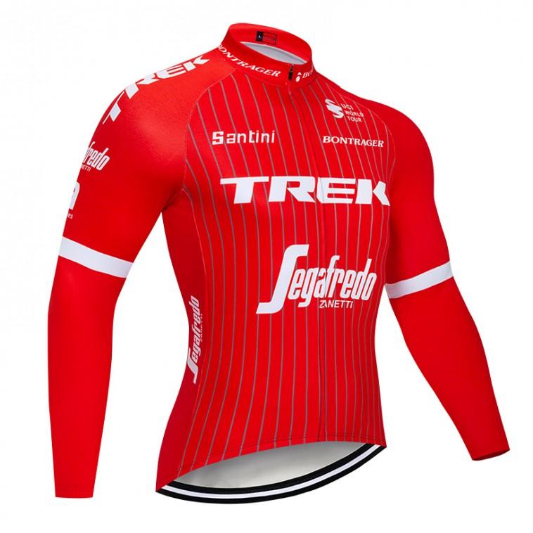 Maillot vélo hiver pro Trek Segafredo 2018 rouge