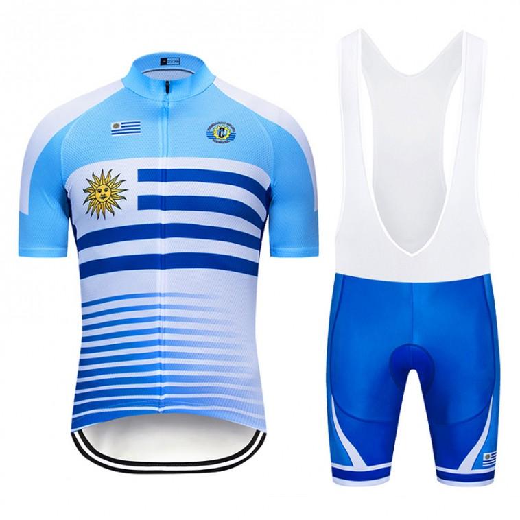 Ensemble cuissard vélo et maillot cyclisme pro Uruguay 2019