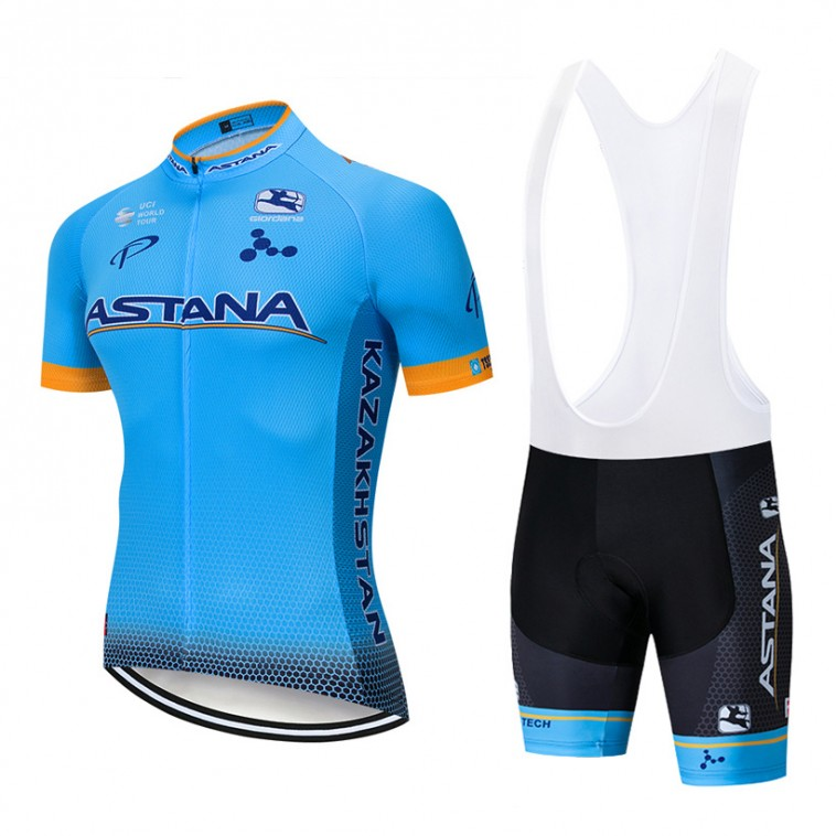 Ensemble cuissard vélo et maillot cyclisme pro ASTANA 2019