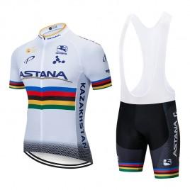 Ensemble cuissard vélo et maillot cyclisme pro ASTANA 2019 UCI