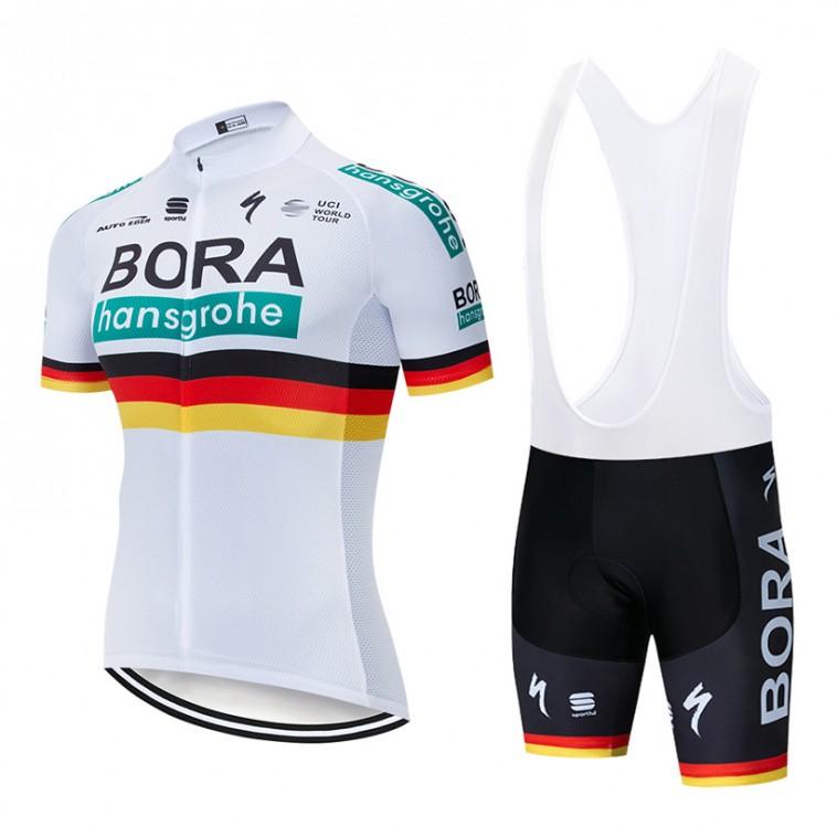 Ensemble cuissard vélo et maillot cyclisme pro BORA 2019 German