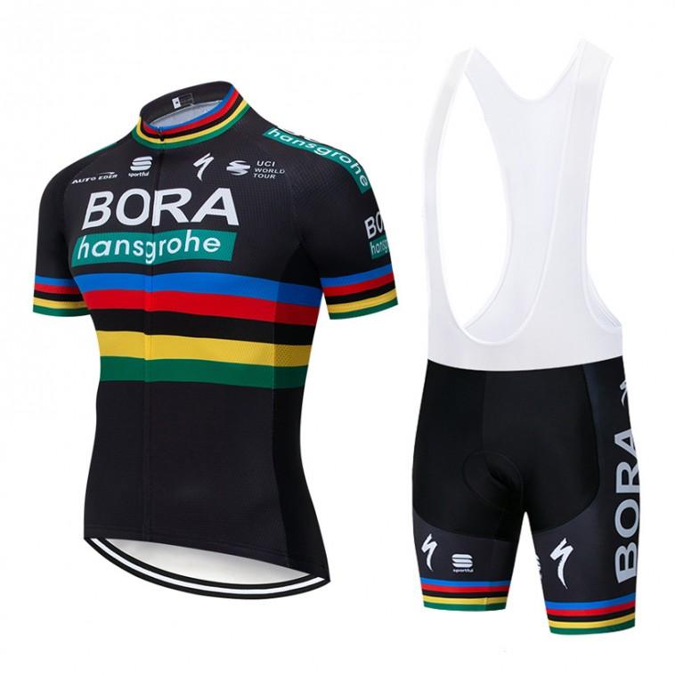 Ensemble cuissard vélo et maillot cyclisme pro BORA 2019 UCI