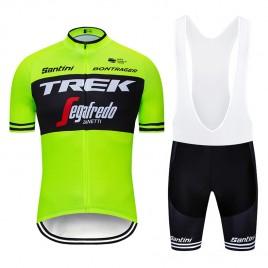 Ensemble cuissard vélo et maillot cyclisme pro TREK Segafredo 2019 fluo