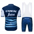 Ensemble cuissard vélo et maillot cyclisme pro TREK Segafredo 2019 bleu