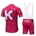 Ensemble cuissard vélo et maillot cyclisme pro KATUSHA ALPECIN 2019 rouge