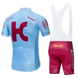 Ensemble cuissard vélo et maillot cyclisme pro KATUSHA ALPECIN 2019 bleu