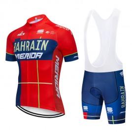 Ensemble cuissard vélo et maillot cyclisme pro Bahrain Merida 2019