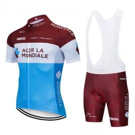Ensemble cuissard vélo et maillot cyclisme pro AG2R La Mondiale 2019