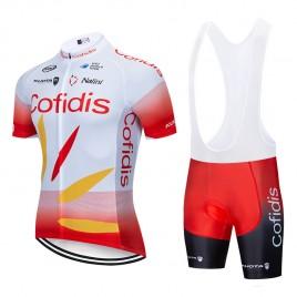 Ensemble cuissard vélo et maillot cyclisme pro COFIDIS 2019