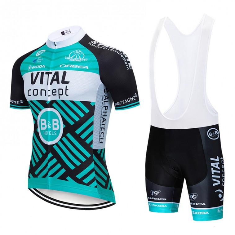 Ensemble cuissard vélo et maillot cyclisme pro Vital Concept - B&B Hotels 2019