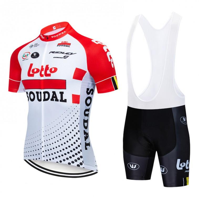 Ensemble cuissard vélo et maillot cyclisme pro Lotto Soudal 2019