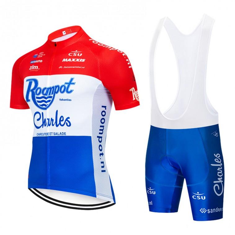 Ensemble cuissard vélo et maillot cyclisme pro Roompot Charles 2019