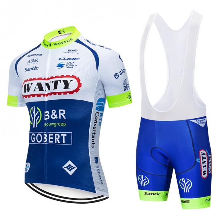 Ensemble cuissard vélo et maillot cyclisme pro WANTY Gobert 2019