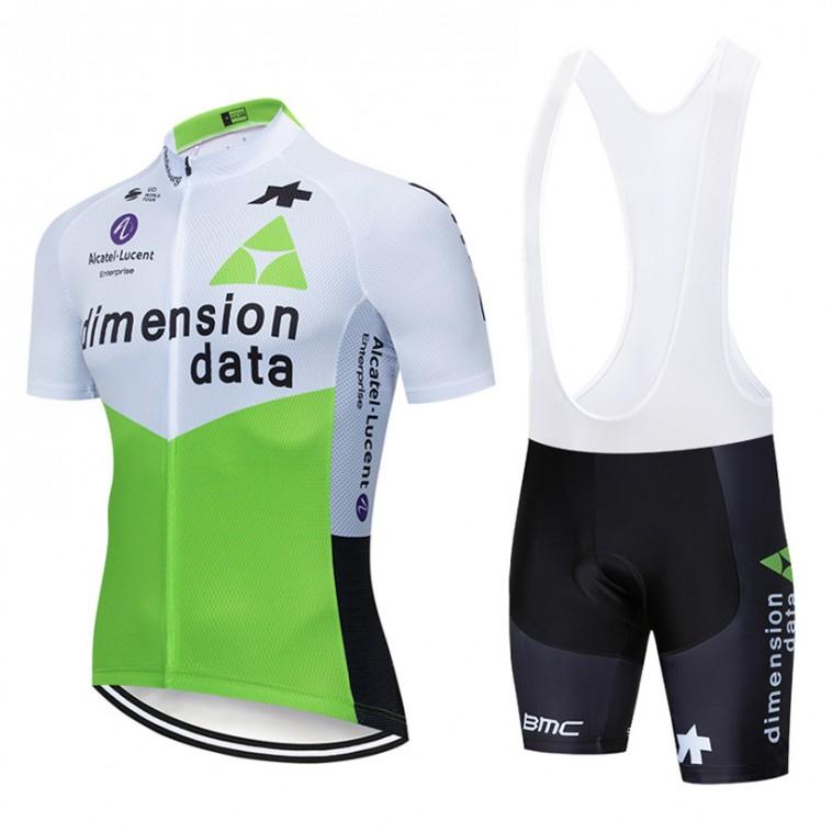 Ensemble cuissard vélo et maillot cyclisme pro Dimension Data 2019