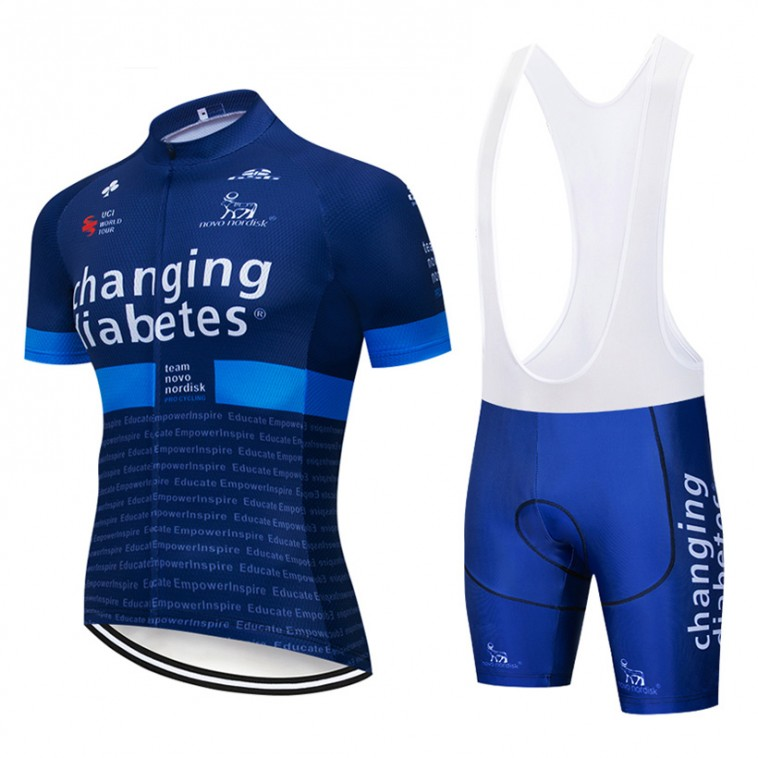 Ensemble cuissard vélo et maillot cyclisme pro Novo Nordisk Diabetes 2019