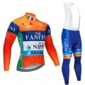 Ensemble cuissard vélo et maillot cyclisme hiver pro Vini Fantini - Nippo 2019