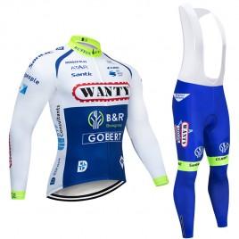 Ensemble cuissard vélo et maillot cyclisme hiver pro WANTY Gobert 2019