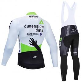 Ensemble cuissard vélo et maillot cyclisme hiver pro Dimension Data 2019