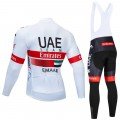 Ensemble cuissard vélo et maillot cyclisme hiver pro UAE Emirates 2019