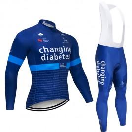 Ensemble cuissard vélo et maillot cyclisme hiver pro Novo Nordisk Diabetes 2019