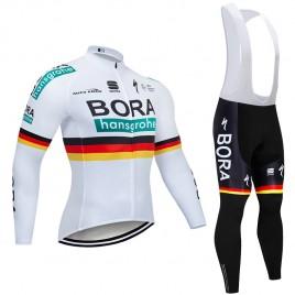 Ensemble cuissard vélo et maillot cyclisme hiver pro BORA 2019 German