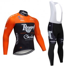 Ensemble cuissard vélo et maillot cyclisme hiver pro Roompot Charles 2019