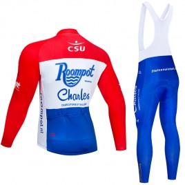 Ensemble cuissard vélo et maillot cyclisme hiver pro Roompot Charles 2019 France