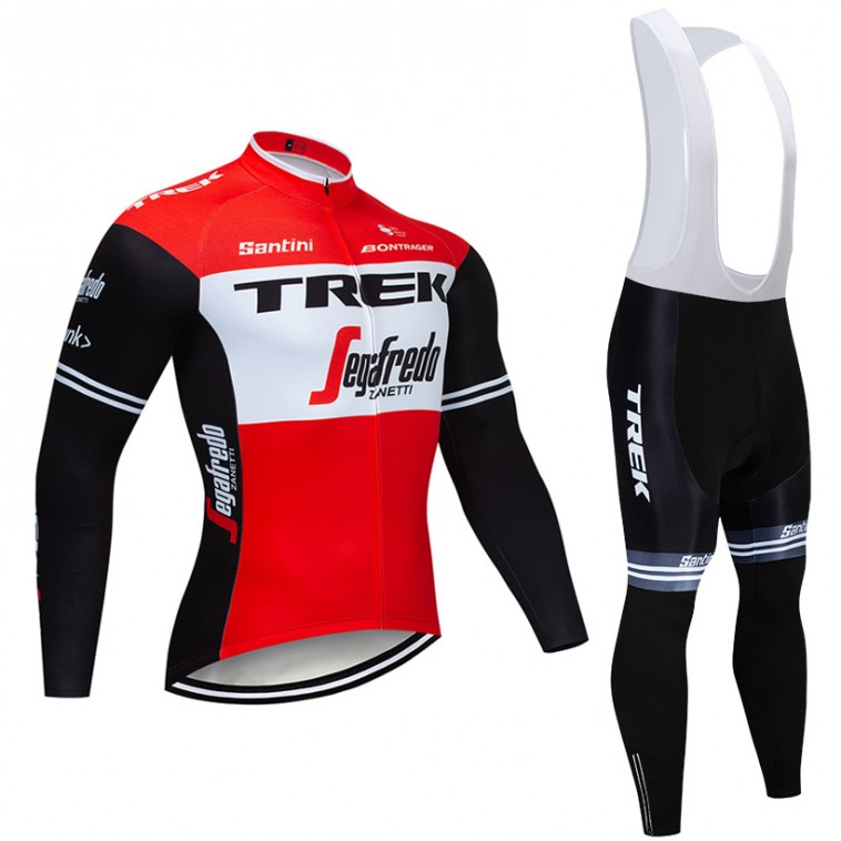 Ensemble cuissard vélo et maillot cyclisme hiver pro TREK Segafredo 2019