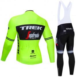 Ensemble cuissard vélo et maillot cyclisme hiver pro TREK Segafredo 2019 Fluo